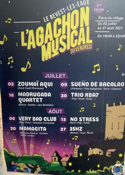 Concerts- L'agachon musical du vendredi – à Le Revest-les-Eaux - 0