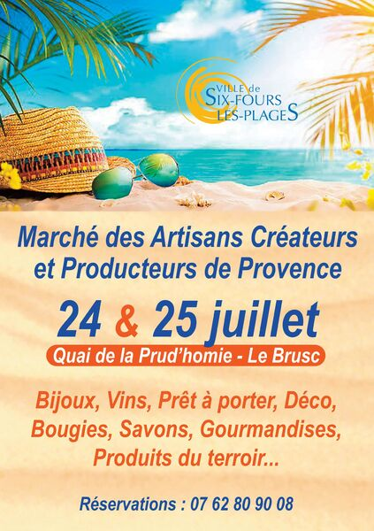 Market of creative craftsmen and producers of Provence à Six-Fours-les-Plages - 0