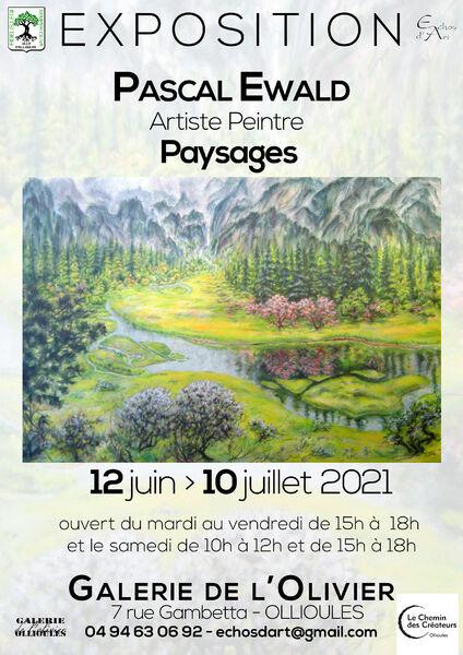 """Exhibition """"Landscapes"""" of the painter Pascal Ewald à Ollioules - 0"""