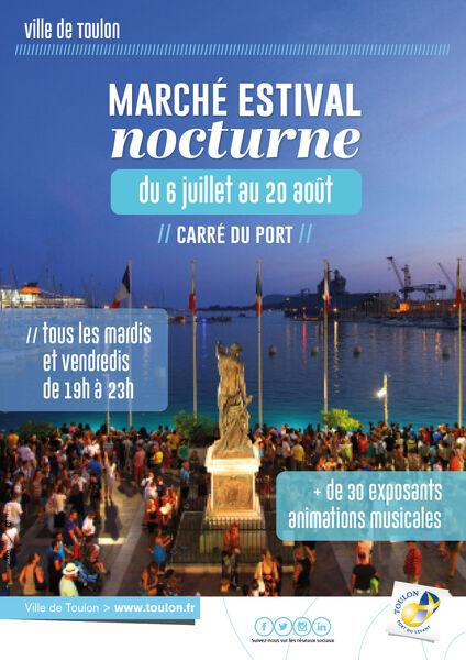 Marché estival nocturne de Toulon à Toulon - 0