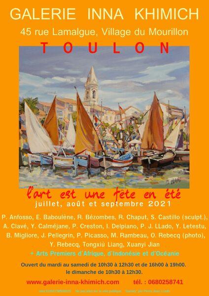 Artistes à découvrir – Exposition collective de l'été à la Galerie Inna Khimich à Toulon - 0