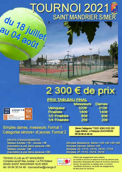 Tournoi open de tennis de Saint Mandrier à Saint-Mandrier-sur-Mer - 0