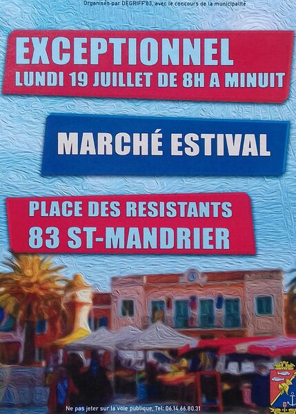 Summer market of Saint Mandrier à Saint-Mandrier-sur-Mer - 0