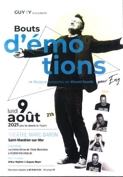 """Guyyy's """"Bouts d'émotions"""" show à Saint-Mandrier-sur-Mer - 0"""