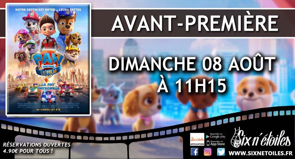 """Preview of the animated film """"Pat'Patrol the movie"""" à Six-Fours-les-Plages - 0"""