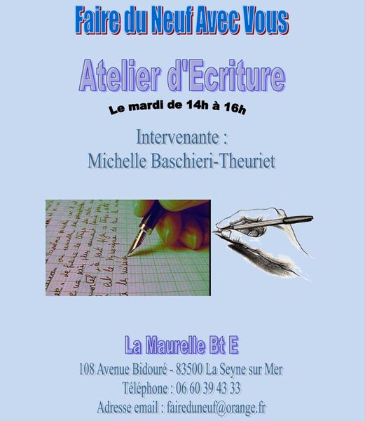 Writing workshop of the association Faire du Neuf avec Vous à La Seyne-sur-Mer - 1