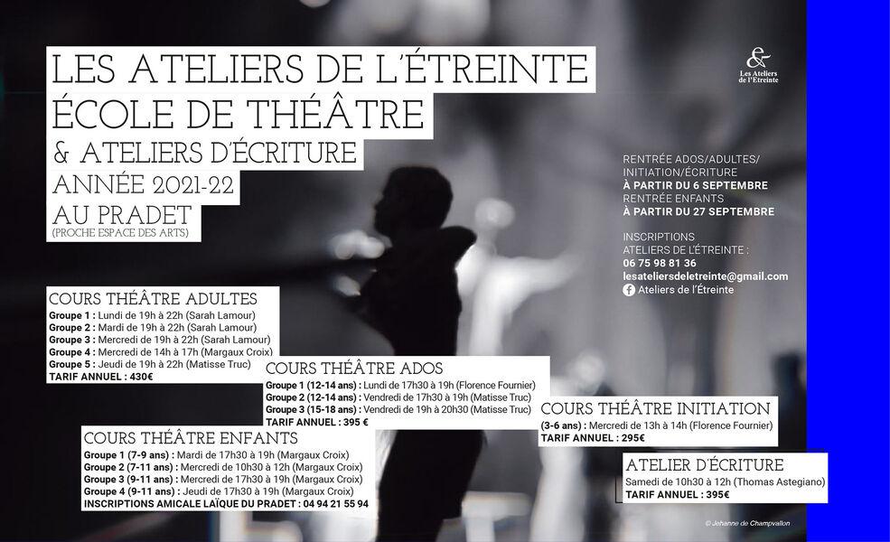Ateliers – stages de théâtre enfants / ados à Le Pradet - 0