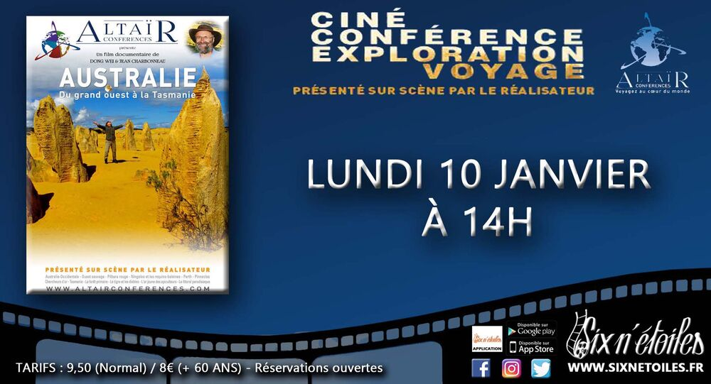 """Altaïr film-conference """"Australia, from the Great West to Tasmania à Six-Fours-les-Plages - 0"""