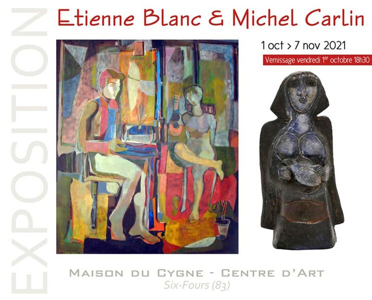 Retrospective of Etienne Blanc and Michel Carlin (paintings, inks and volumes) à Six-Fours-les-Plages - 0