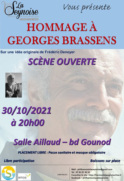 Open stage: a tribute to Georges Brassens à La Seyne-sur-Mer - 0
