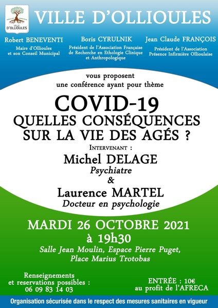 """Conference """"COVID 19….What impact on the lives of older people?"""" à Ollioules - 0"""