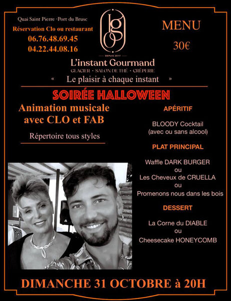 Halloween evening: musical entertainment with Clo and Fab à Six-Fours-les-Plages - 0