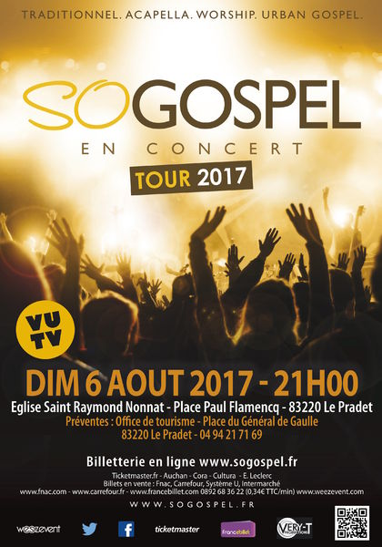 Concert so Gospel Tour 2017 à Le Pradet - 0