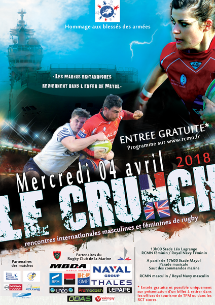 Rugby – Marine Nationale vs Royal Navy « Le Crunch » à Toulon - 0