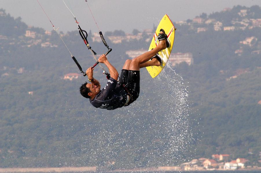 Kite-surf competition final à Hyères - 2