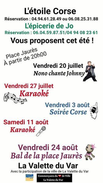 Festivités à la place Jaurès – Karaoké – Soirée corse – Bal à La Valette-du-Var - 0