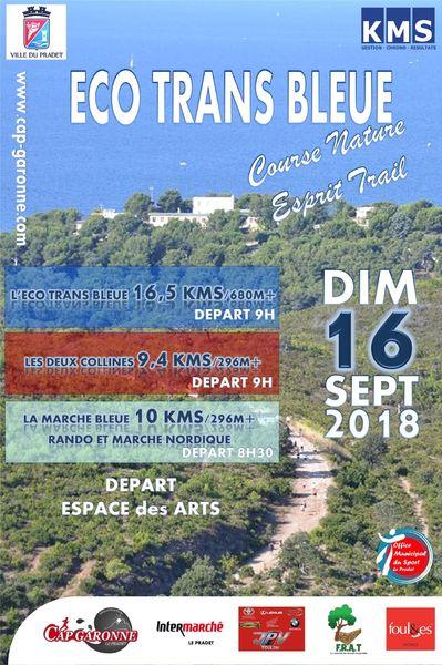 Eco Trans Bleue: course esprit trail   Les 2 collines à Le Pradet - 0
