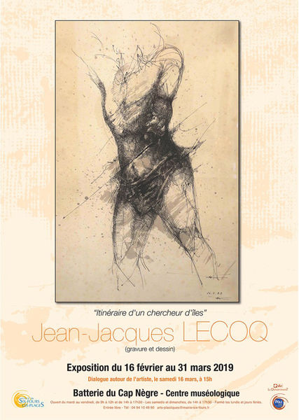 """Exposition """"Itinéraire d'un chercheur d'îles"""" de Jean-Jacques Lecoq (gravure et dessin) à Six-Fours-les-Plages - 0"""