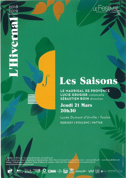 Concert – L'Hivernal / Le Madrigal de Provence – Les Saisons à Toulon - 0
