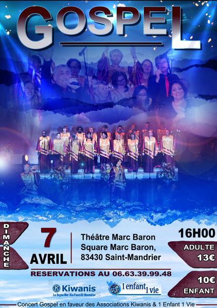 """Concert gospel par """"The Hope's Gospel Choir"""" à Saint-Mandrier-sur-Mer - 0"""