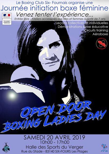 """Journée initiation boxe féminine """"Open door boxing ladies day"""" à Six-Fours-les-Plages - 0"""