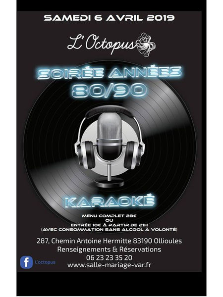 Soirée années 80/90 et karaoké à Ollioules - 0
