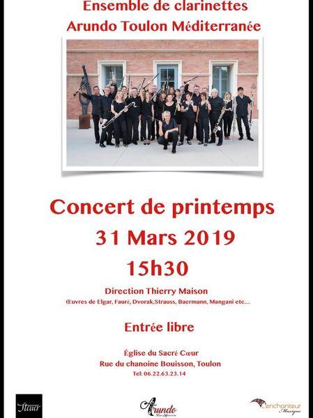 Concert de Printemps Ensemble de clarinettes Arundo à Toulon - 1