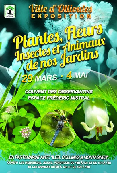 """Exposition """"Plantes, fleurs, insectes et animaux de nos jardins"""" à Ollioules - 0"""