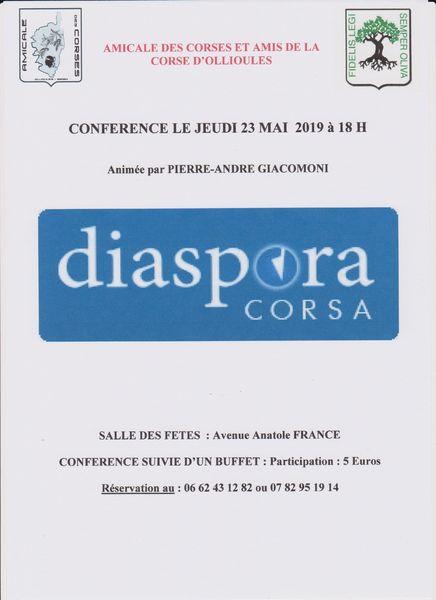 "Conférence ""Diaspora Corsa"" à Ollioules - 0"