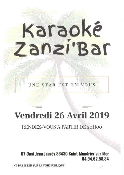 Karaoké Zanzi'bar à Saint-Mandrier-sur-Mer - 0