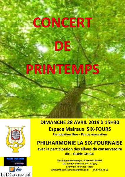Concert de Printemps par la Philharmonique la Six Fournaise à Six-Fours-les-Plages - 0