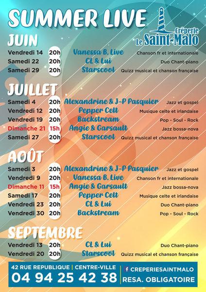 Summer Live : animation musicale avec Vanessa B. (Variété française et étrangère) à Six-Fours-les-Plages - 0
