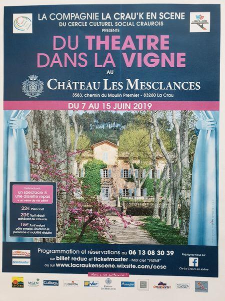 Festival théâtre dans les vignes La Crau'K en scène à La Crau - 0