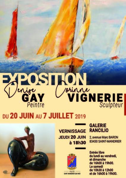 Exposition de l'artiste peintre Denise Gay et du sculpteur Corinne Vignerie à Saint-Mandrier-sur-Mer - 0