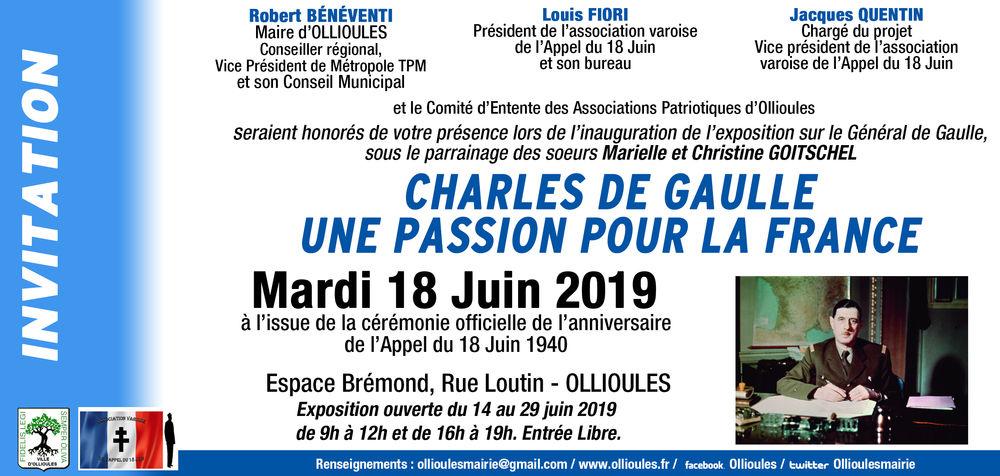 """Exposition """"Charles de Gaulle, une passion pour la France"""" à Ollioules - 0"""