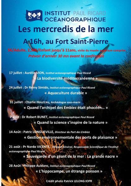 """Les mercredis de la mer : conférence """"La biodiversité méditerranéenne"""" à Six-Fours-les-Plages - 0"""