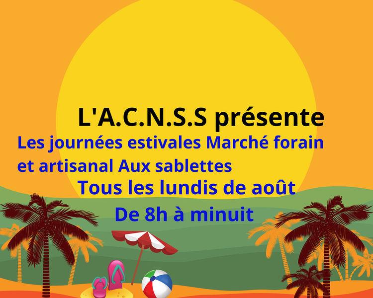 Journées estivales : marché forain et artisanal aux Sablettes à La Seyne-sur-Mer - 0