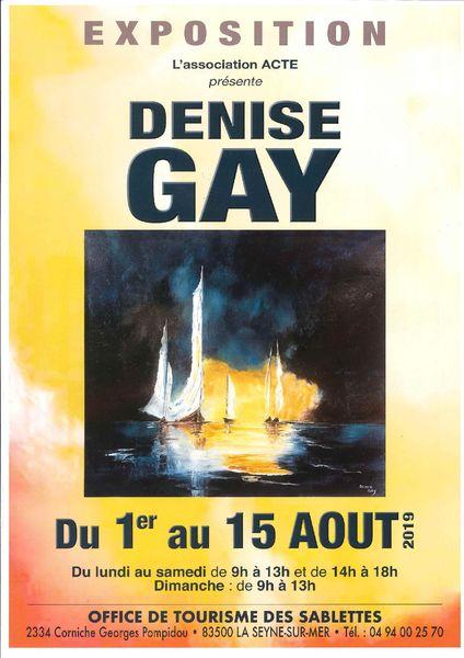 Exposition de peintures de Denise Gay à La Seyne-sur-Mer - 0