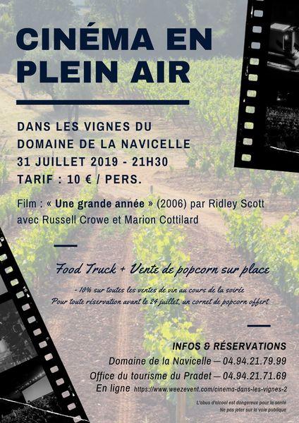 Cinéma dans les vignes du domaine de la Navicelle à Le Pradet - 0