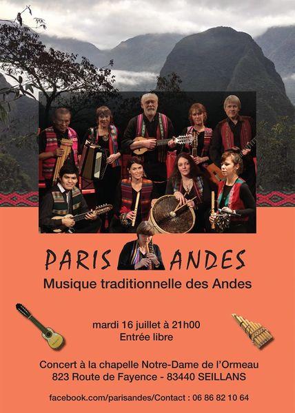 Paris-Andes, musique traditionnelle des Andes à Hyères - 0