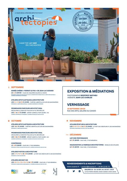 Lecture performance « L'Azur sans culotte » et Inauguration « La Fabrique Architectopies » CAUE du Var à Toulon - 0