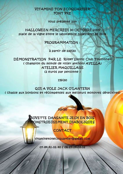Halloween avec l'Association « Vitamine Ton Écoquartier Font Pré » à Toulon - 0