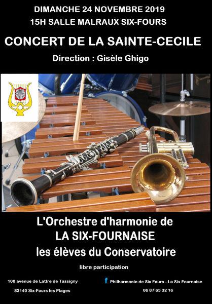 Concert de la Sainte Cécile par la Philharmonique la Six Fournaise à Six-Fours-les-Plages - 0