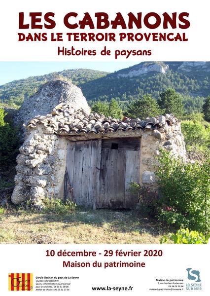 """Exposition """"Les cabanons dans le terroir provençal : histoires de paysans"""" à La Seyne-sur-Mer - 0"""