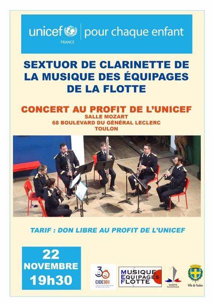 Concert pour Unicef – Musique des Équipages de la Flotte à Toulon - 0