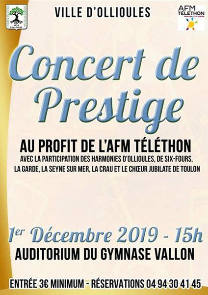Concert de Prestige au profit de l'AFM Téléthon à Ollioules - 0