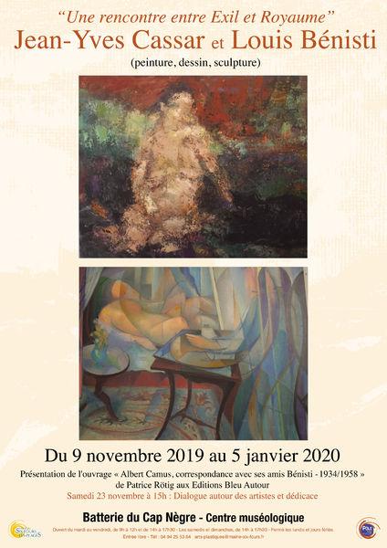 Exposition de peintures, dessins et sculptures de Jean-Yves Cassar et Louis Bénisti à Six-Fours-les-Plages - 0