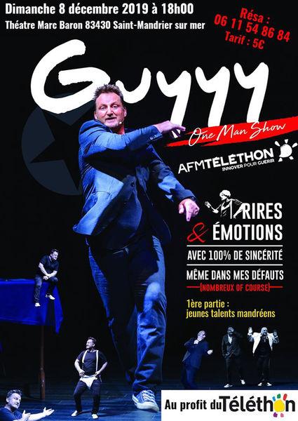 One man show Guyyy au profit du Téléthon à Saint-Mandrier-sur-Mer - 0
