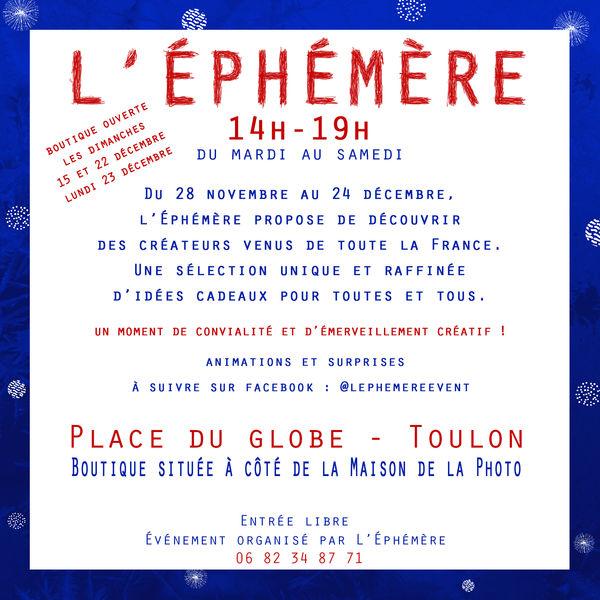 Artistes à découvrir / L'Éphémère de Noël à Toulon - 1
