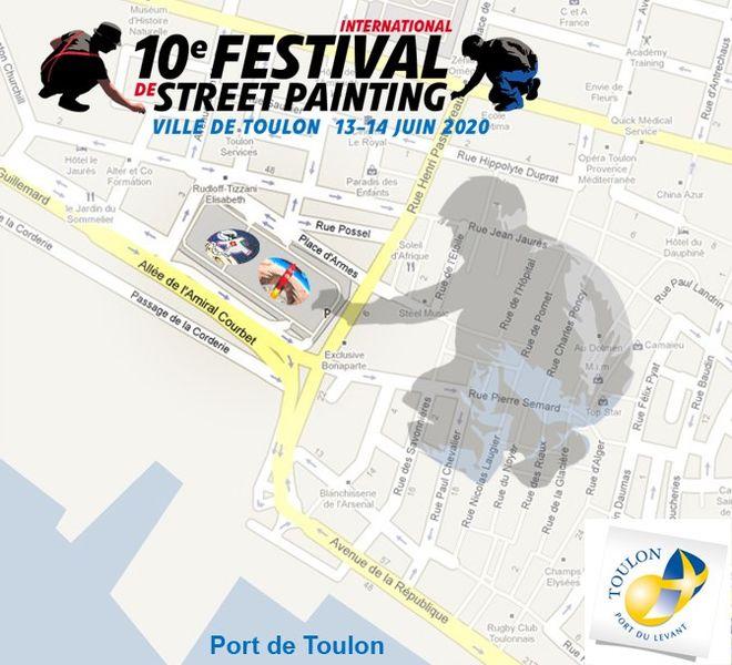 Annulé – 10e Festival International de Street Painting à Toulon - 1